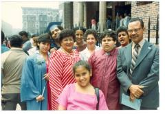 Lillian López and her sister Evelina López Antonetty (center) among others