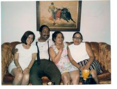 Lillian López (pink dress) and her family