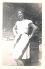 Lillian López in her youth