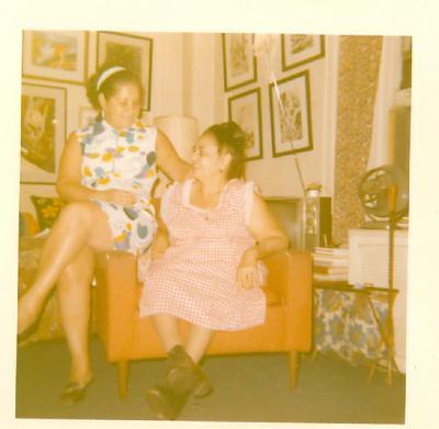 Lillian López (left) with a friend