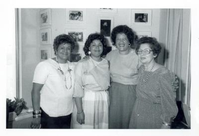 Lorraine Montenegro (left), Rossana Rosado, Elba Cabrera and Lillian López (far right)