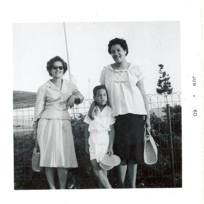 Lillian López (far left) with her sister Elba Cabrera and Cabrera's son Tony