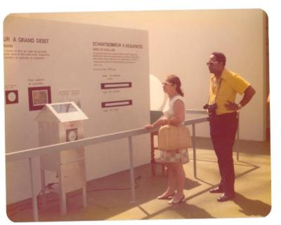 Lillian López and Tony Mondesire at a museum exhibition in Canada