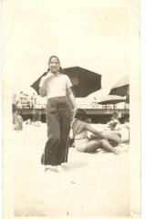 Lillian López at Rockaway Beach