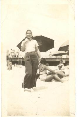 Lillian López at Rockaway Beach