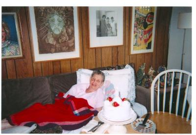 Lillian López celebrating her 80th birthday