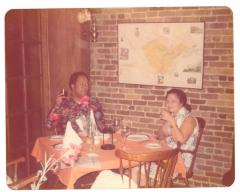 Lillian López and Tony Mondesire having dinner