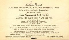 Sexta Convención de la I.W.O./ Sixth Convention of the I.W.O.