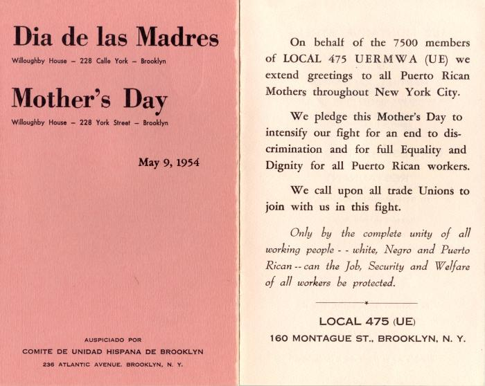 Dia de Las Madres / Mother's Day