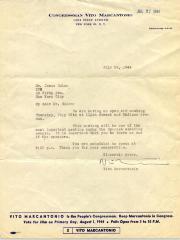 Correspondence to Jesús Colón from Vito Marcantonio