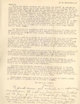 Correspondence to Concha Colon from Jesús Colón