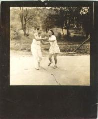 Jesús Colón and Concha Colón dancing together