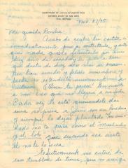 "Correspondence to Concha Colón from ""Josefina Naranjo"""