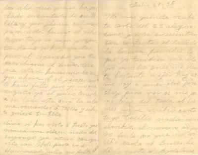 "Correspondence to Jesús Colón from ""Carmen"""