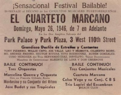 Sensacional Festival Bailable! El Cuarteto Marcano