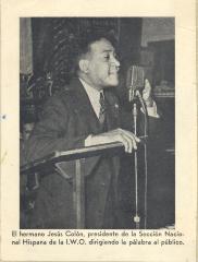 Jesús Colón, president of El Comité Nacional De La Sección Hispánica