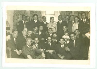 Jesús and Joaquín Colón, with friends