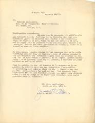 Correspondence to Antonio Anguinsony from Juan A. Alamo