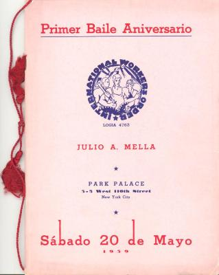 Primer Baile Aniversario de International Workers Order / First Anniversary Dance of the International Workers Order