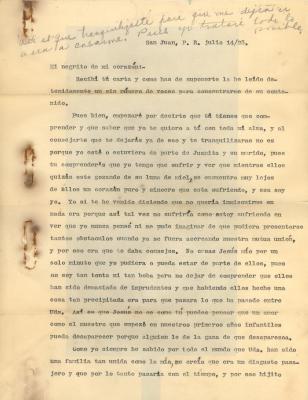 Correspondence to Jesús Colón from Concha Fernandez