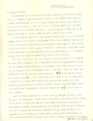 Correspondence to Concha Colón from Jesús Colón