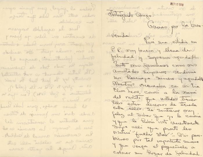 Correspondence to Jesús Colón from Pura Belpré