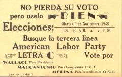 American Labor Party election campaign