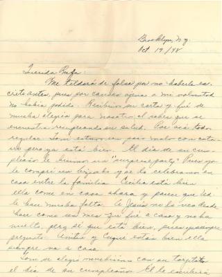Correspondence to Concha Colón, aka Rufa Fernandez