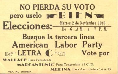 American Labor Party election campaign