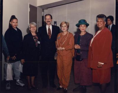 Petra Allende with elected officials