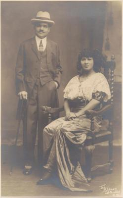 Filomena Albizu And her husband, Gaston Sheafe