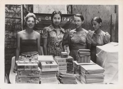 Four young ladies from the United Organization of Suffolk Street