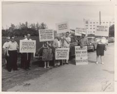 Protest for the Civil Rights in Puerto Rico, Protesta frente al Presidio