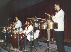 Ray Ramos performing with his orchestra