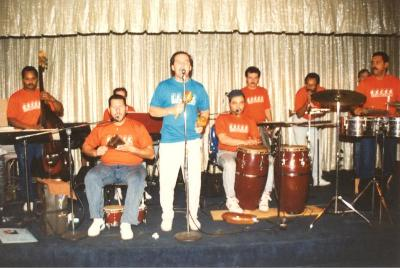 Ray Ramos performing with his band