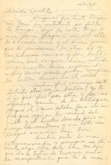 """Correspondence to Concha Colón from """"Juanita"""""""