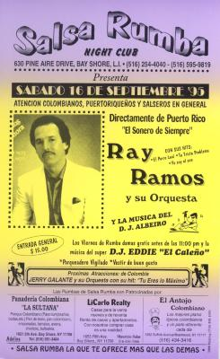 Flyer for Ray Ramos y Su Orquesta at Salsa Rumba