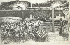 Illustration of a steamship entering New York Harbor