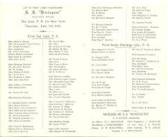 S.S. Borinquen Passenger List