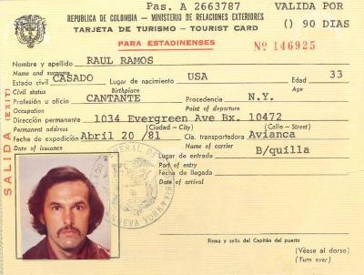 Ray Ramos - Tourist Card