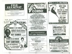 Collage of Ray Ramos show flyers