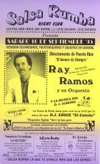 Flyer for Ray Ramos y Su Orquesta at Salsa Rumba
