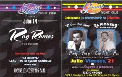 Flyer for Ray Ramos y su Orquesta at Grand Avenue Night Club