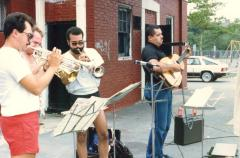 Musicians performing on the street