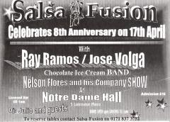 Flyer for Ray Ramos and Jose Volga at Notre Dame Hall