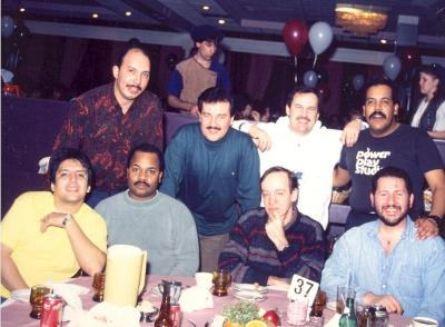 Ray Ramos at dinner with friends