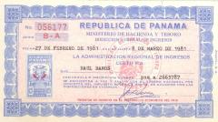 Inscription Number for Income Tax for Ray Ramos