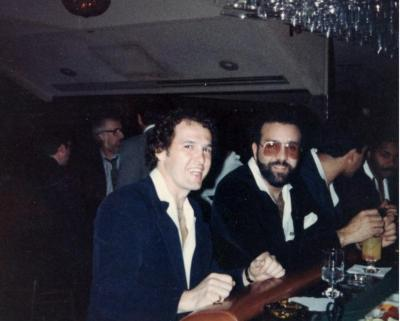 Ray Ramos at the bar with friend