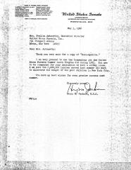 Letter from the United States Senate to Evelina López Antonetty