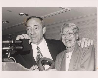 Petra Allende with Governor Mario Cuomo